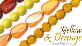 yellow and orange glass beads australia