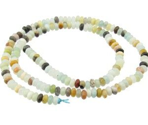 amazonite faceted rondelle gemstone beads