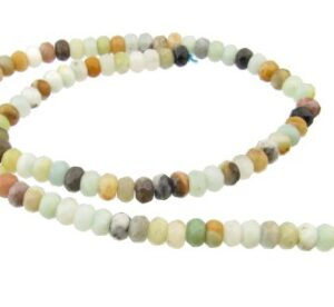 amazonite faceted rondelle gemstone beads 4x6mm