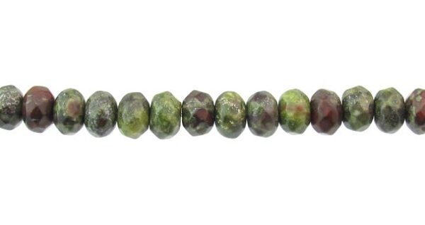 bloodstone faceted rondelle gemstone beads 6mm