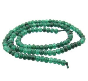 dyed jade rondelle gemstone beads