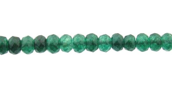 dyed jade rondelle gemstone beads
