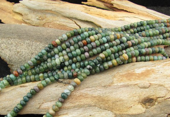 fancy jasper faceted rondelle gemstone beads 6mm