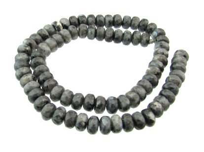 larvikite faceted rondelle gemstone beads australia