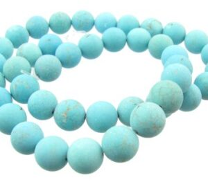 matte turquoise 10mm round beads