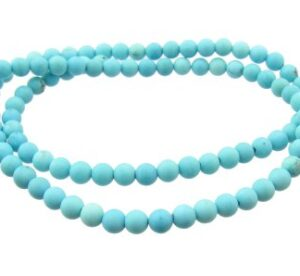 matte turquoise 4mm round beads