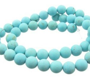matte turquoise 8mm round beads