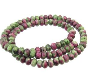 ruby zoisite gemstone rondelle beads 6mm