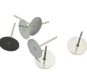 flat stud earrings