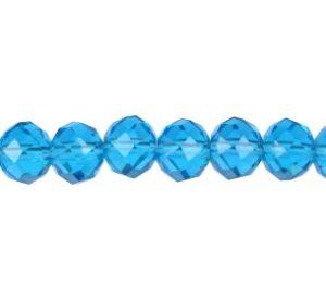 aqua blue crystal rondelle beads