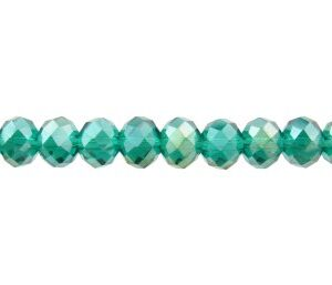 green ab crystal rondelle beads