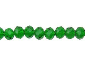 emerald green crystal rondelle beads