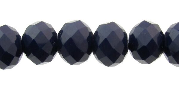 navy blue crystal rondelle beads