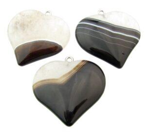 black agate quartz pendant