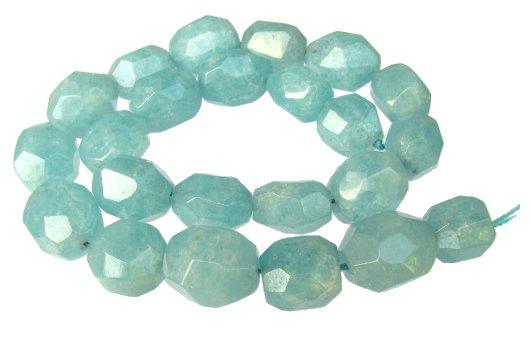 blue sponge quartz faceted nugget beads