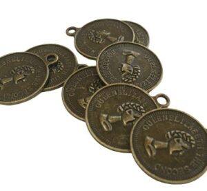 bronze coin charms