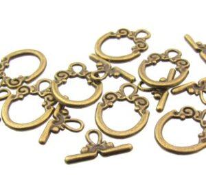 bronze toggle clasp beading