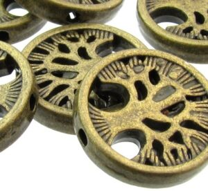 bronze tree of life beads