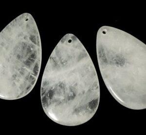 clear quartz drop pendant