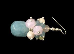 gemstone bead cluster earring tutorial