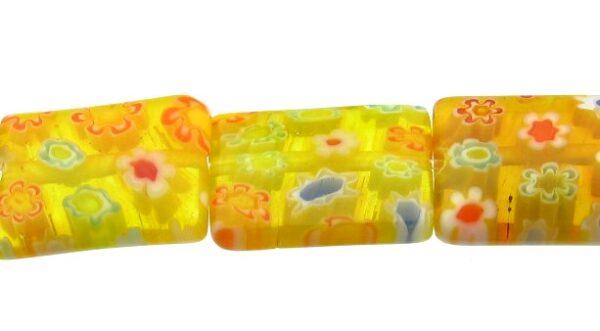 yellow glass rectangle beads