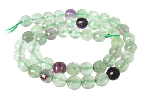 fluorite faceted round gemstone beads