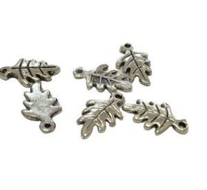silver leaf charm