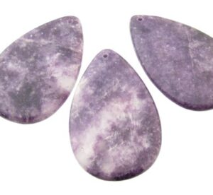 lepidolite gemstone pendant