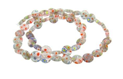 purple small disc beads millefiori