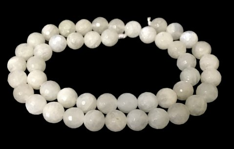 moonstone faceted round beads 8mm