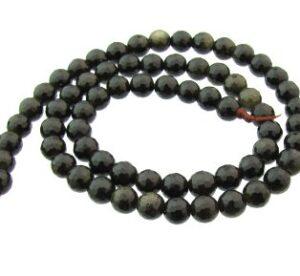 golden obsidian gemstone round beads 6mm