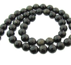 golden obsidian gemstone beads