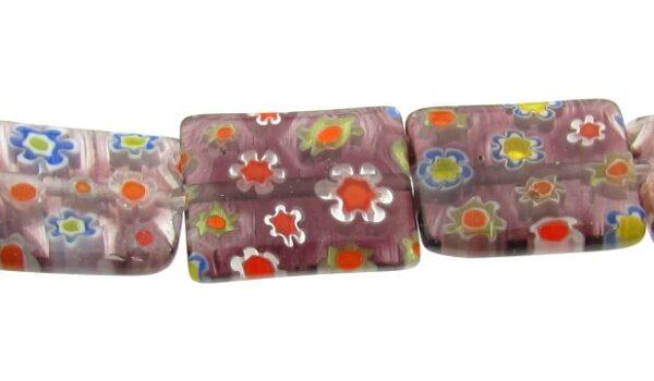 purple glass rectangle beads