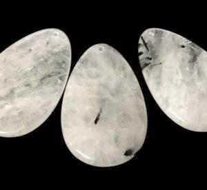 tourmalinated quartz pendant