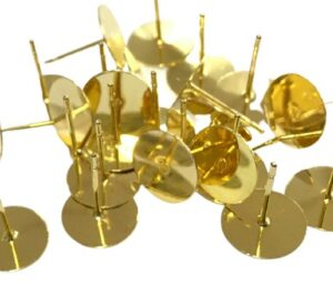 gold stud earrings 10mm