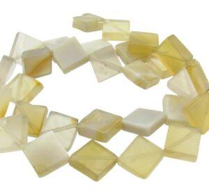 grey agate square gemstone beads