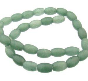 green aventurine gemstone rice beads