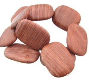 brick jasper gemstone rectangle beads