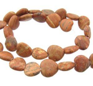 jasper heart gemstone beads