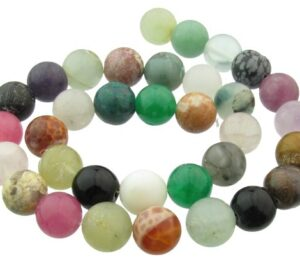 mixed gemstone beads 12mm