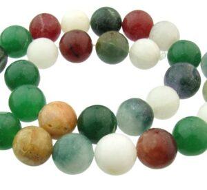 mixed jade gemstone beads