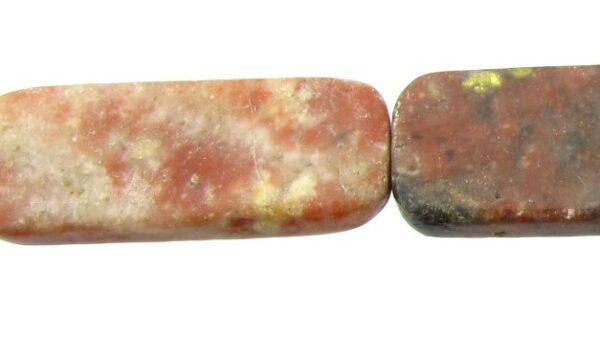 pink lepidolite with yellow gemstone beads
