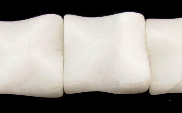 white jade large square gemstone beads