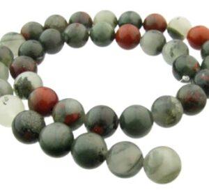 10mm round bloodstone beads