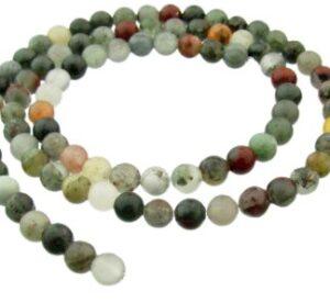 bloodstone beads 4mm round gemstones