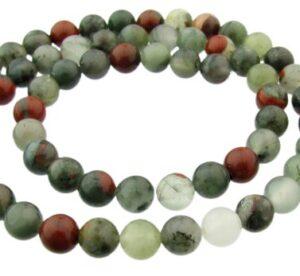 bloodstone 6mm round gemstone beads
