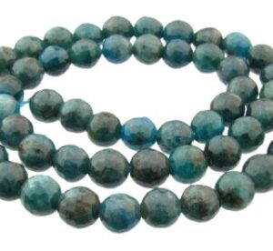 apatite beads in faceted round 8mm