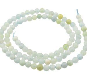 aquamarine gemstone round beads 4mm