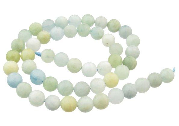 aquamarine round beads 8mm