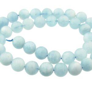 aquamarine gemstone round beads 10mm